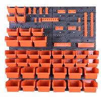 38 Boxen SET Lagersichtboxenwand Stapelboxen mit Montagewand Werkzeugwand