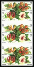 USA SC# 3313b TROPICAL FLOWERS 33c. BOOKLET OF 20 S.A. STAMPS PL# S11111 MNH