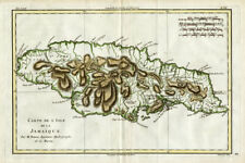 Antique Map-JAMAICA-CARIBBEAN-Bonne-1780