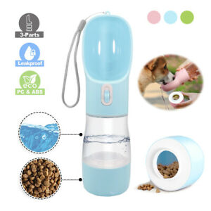 Dog Treats and Water Bottle Portable Pet Drinking Bottle 260ml & 200ml Feeder