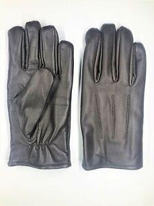 Men's Chocolate  GENUINE SHEEPSKIN soft leather winter gloves w/ fleece lining