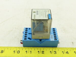 Finder 60.13.9.024.5070 10A 250V 24VDC Relay W/90.73 Base Rail Mount