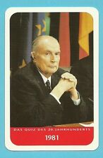 François Mitterrand Cool Collector Card from Europe President of France