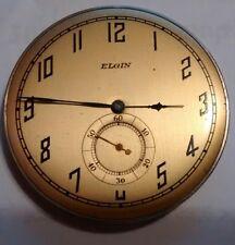 OLD vintage ELGIN odd size pocket watch Movement Runs !!