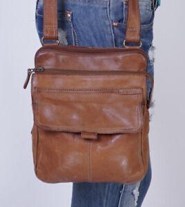 FOSSIL Tan Medium Leather Crossbody Shoulder Hobo Tote Satchel Purse Bag