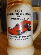 Formula 1 F1 Interlagos Sao Paulo Brasil 1976 Beer Stein Souvenir So Chopp