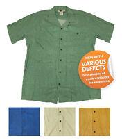 Joe Marlin Big & Tall Men's Short Sleeve Button-Down Hawaiian Shirt NEW W DEFECT