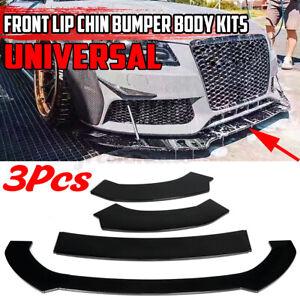 3PCS Front Lip Bumper Spoiler Splitter For AUDI A3 A4 A5 S3 S4 S5 RS5 S-line