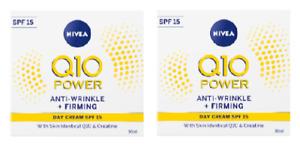 2 x Nivea Q10 Power Anti-Wrinkle + Firming Day Cream SPF 15 (2 X 50ml)
