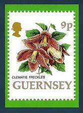 Guernsey - 1993-postcard-Flowers: Clematis freckles