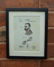 USA Patent vintage EYE GLASSES retro OPTICIAN medical MOUNTED PRINT 1890 Gift