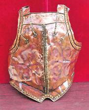 vintage medieval spanish body armor replica copper