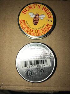 2 Burts Bees 100% Natural Beeswax Lip Balm 0.3 oz