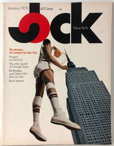 Vintage Jock New York Sports Magazine Knicks Cover January 1970 + Pocket Program