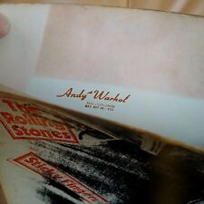 ROLLING STONES Sticky Fingers C0C UK 1971 press A4B4Andy Warhol cover ZIP Nr EX