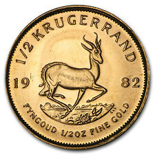1982 South Africa 1/2 oz Gold Krugerrand - SKU #89275