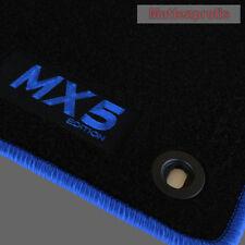 Mattenprofis Velours Fußmatten Logo blau für Mazda MX-5 MX5 NA ab Bj.1989 - 1998