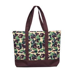 BAPE A BATHING APE Camo Handbag Nylon Laptop Shopping Bag Tote Shoulder Bag