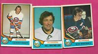 1974-75 OPC NEW YORK ISLANDERS  CARD LOT (INV# C2832)