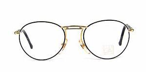 Club LA 7104 Mens Womens P3 Gold Black Tortoise Eyeglasses Vintage 90s Italy NOS