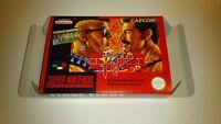 Final Fight - PAL  - Super nintendo - Snes - Only Box
