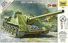 Zvezda 1/72 (20 mm) SU-100 TANK DESTROYER (SNAP FIT)