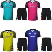 New Outdoor tennis sportswear men's clothing Badminton Tops T shirts +shorts