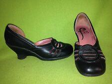 Black Fluevog Friends Wedge Heels 9.5