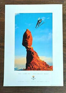 Salt Lake City 2002 Olympics SKI JUMPING / BALANCED ROCK Sports Series Poster #8