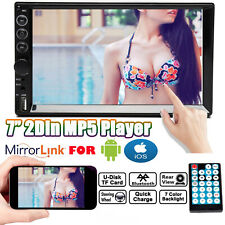 """7"""" Inch Car Stereo Radio HD Mp5 Player Touch Screen Mirror Link For Android IOS"""