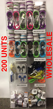 200 Pcs Cell Phone Accessories Display Rack Premium Charger Cables Wholesale Lot