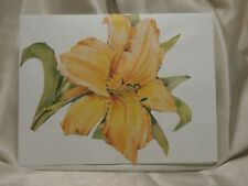 HOLIDAY Seasonal CARD Yellow Floral Flower BLANK GIFT Greeting Post Vintage