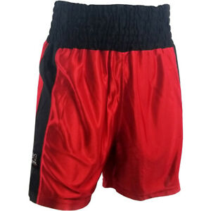 Rival Boxing Youth Dazzle Traditional Cut Competition Boxing Trunks - Red/Black