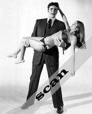 James Bond Richard Kiel & Barbara Bach JAWS holding Agent XXX 8X10 PHOTO #1102