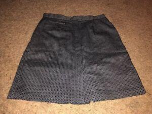 liz claiborne lizsport 8 Black White skort skirt shorts golf sports Womens New