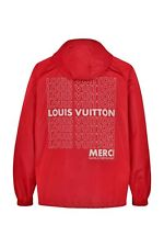 AUTHENTIC LOUIS VUITTON RED WATER REPELENT HOODY (ANORAK) SIZE 52