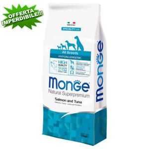 Monge Superpremium All Breeds Hypoallergenic Salmone e Tonno 12Kg