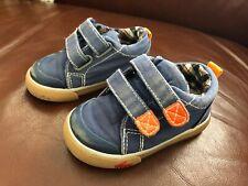 Baby Boy's SEE KAI RUN Blue/Orange Shoes - Size 4