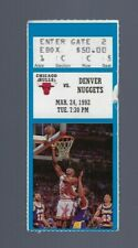 VINTAGE 1992 NBA CHICAGO BULLS TICKET STUB MICHAEL JORDAN 50 POINTS BLUE MAR24