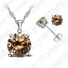 Classic Wedding Jewelry Sets AAA CZ Crystal Necklace Earrings For Women Gift