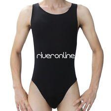 Men's Freestyle Wrestling Singlet Underwear Lingerie Leotard Thong Bodysuit