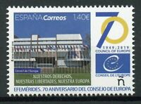 Spain 2019 MNH Council of Europe EU 70th Anniv 1v Set Architecture Flags Stamps