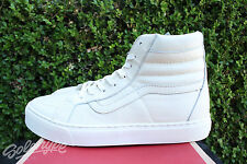 VANS CALIFORNIA SK8 HI LEATHER CUP CA SZ 10.5 WHISPER WHITE VN 0177GS7