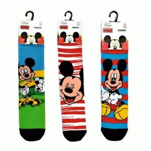 1 Pair Of Mickey Mouse Socks. 3 Designs. Shoe Sizes 6-8.5 and 9-12