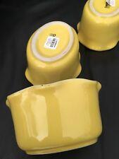 3 Crate & Barrel Stoneware Mini Casserole,  Bowls Scallop Top tags, Never Used
