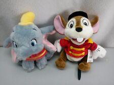 Disney Store Mini Bean Bag Dumbo and Timothy Mouse - RARE
