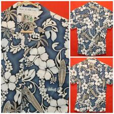 """KY'S Made in Hawaii Hawaiian Shirt Surfboards Flowers No Tag 18"""" Pit2Pit JL-026"""