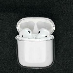 2x Simple Clear & Transparent Protective Hard Plastic Case for Apple AirPods