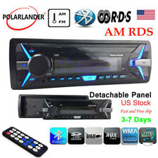 1 Din Car Radio Stereo In-Dash RDS+ Bluetooth MP3 Player  FM AM Detachable Panel