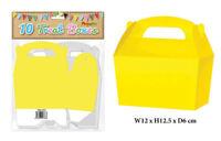 10 Yellow Treat Boxes - Small Cupcake Food Loot Cardboard Gift